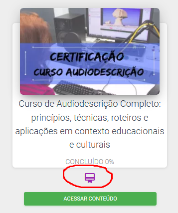 localização do Certificado